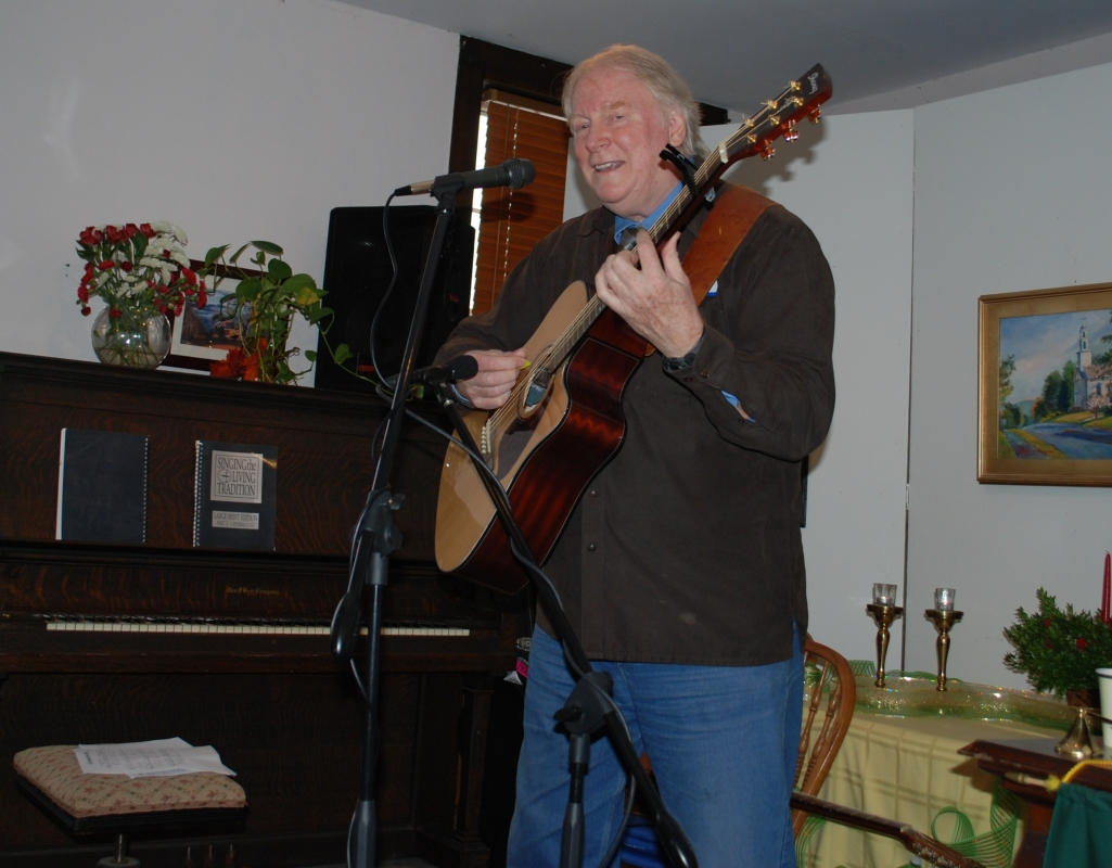 Jim Scott at the Bernardston Unitarian Church